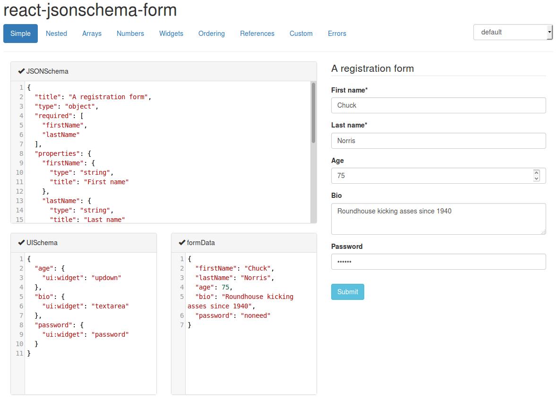 React JSON Form Builder Component