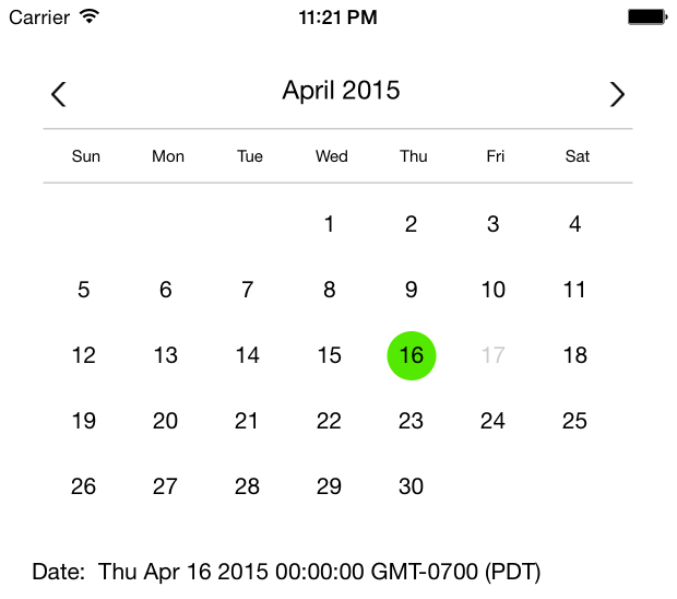 Calendar Picker Component For React Native