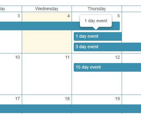 React Event Calendar Component