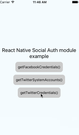 React Native Social Auth