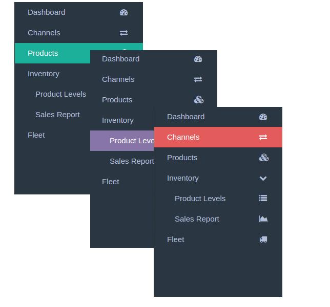 React Based Sidebar Navigation Component