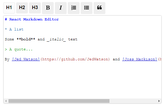 react-js-markdown-editor-component