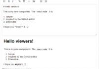 Github Style Markdown Editor Editor for React
