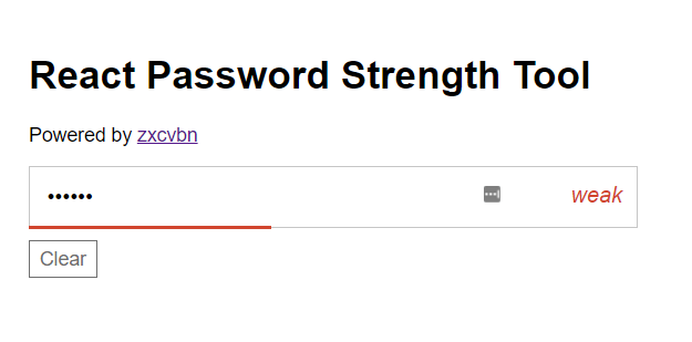 Premise Indicator Words: React Password Strength Indicator