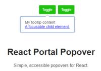 React Portal Popover Component