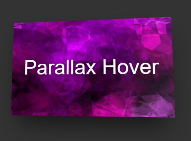 Parallax Hover React Component