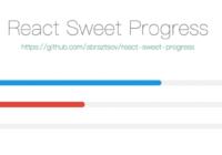 React Sweet Progress Component