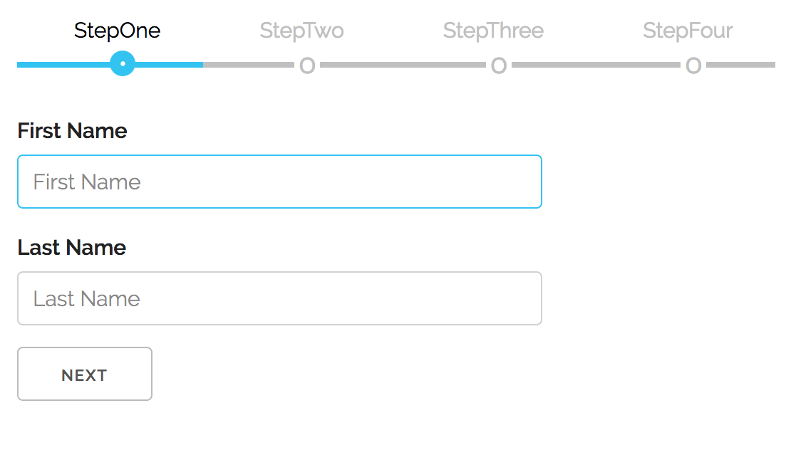 Responsive React Multi-step Form Component