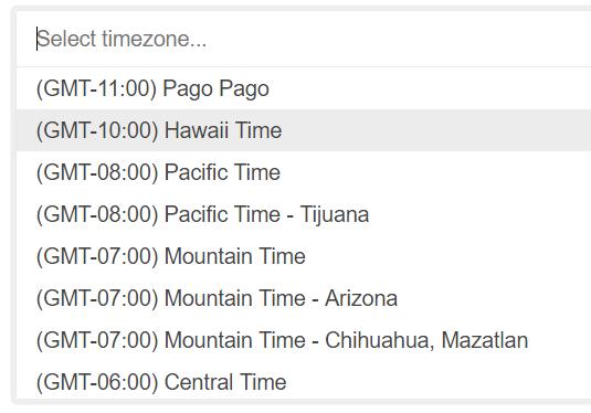 Timezone Picker For React-Bootstrap | Reactscript