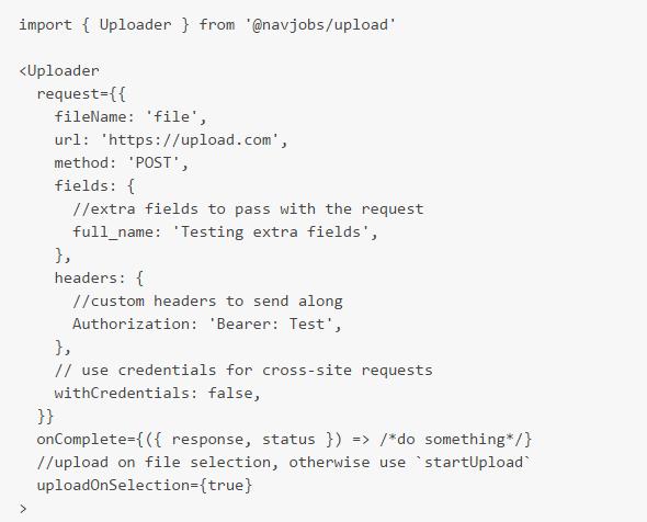 React Components For Handling File Uploads | Reactscript