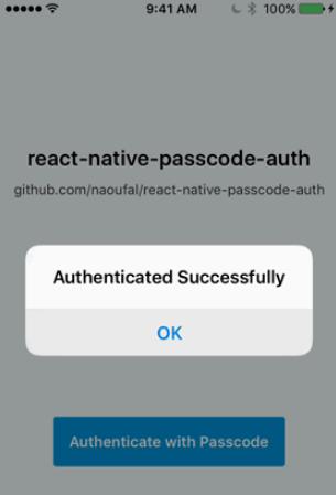 React Native Passcode Auth