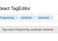 StackOverflow Inspired Tag Editor