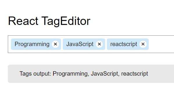 StackOverflow Inspired Tag Editor | Reactscript