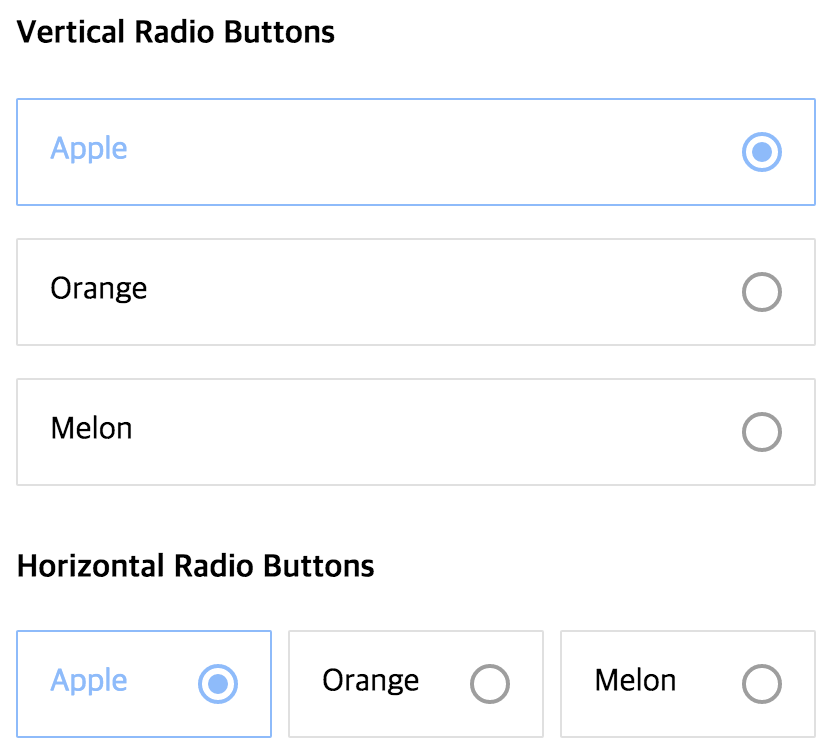 Well-designed Radio Buttons For React