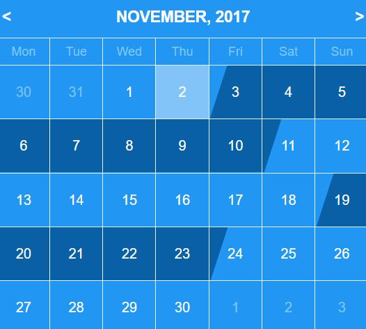 React Booking Calendar