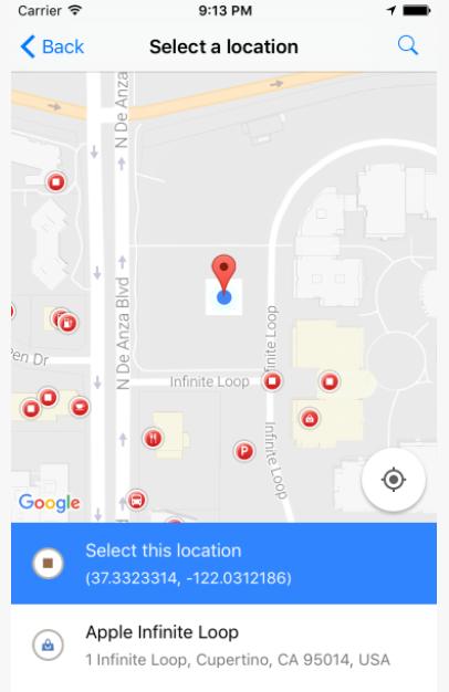 React Native Google Place Picker