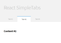 Minimal Clean Tabs Component For React
