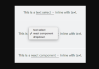 React Inline Text Select Component