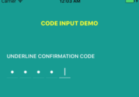 React Native Confirmation Code Input Component