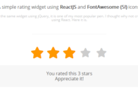 Rating Star Widget With React