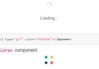 React Core Loading Spinner Component