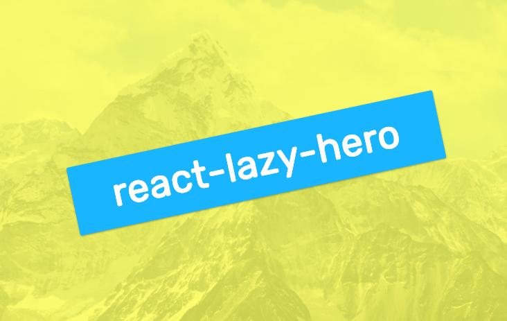react-lazy-hero