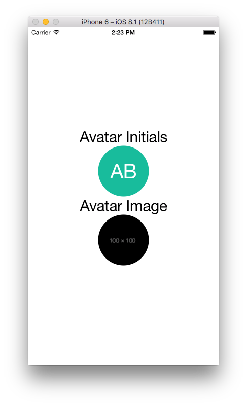React Native User Avatar Component