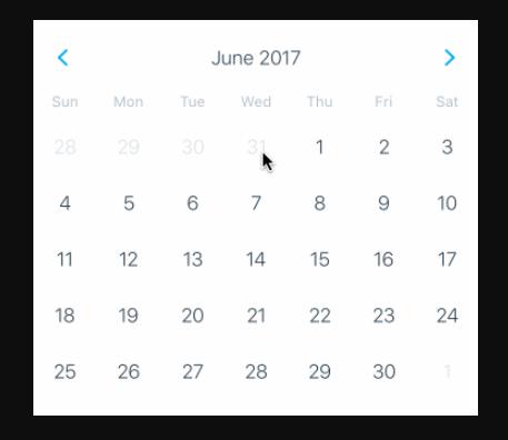 React Native General Calendars