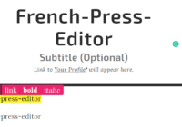 french-press-editor