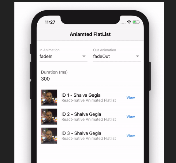 React Native Animated Flatlist | Reactscript