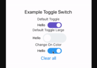 Toggle Switch Component For React Native