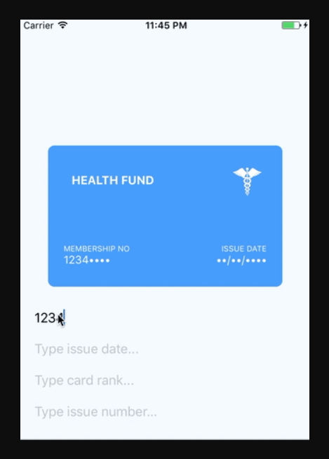 Dynamic Health Card For React Native