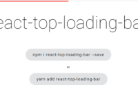 Top Loading Bar For React