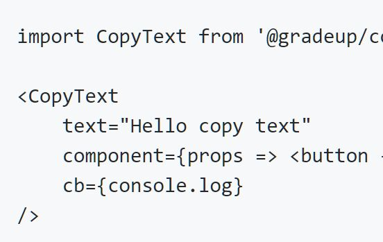Copy Text To Clipboard Library For React