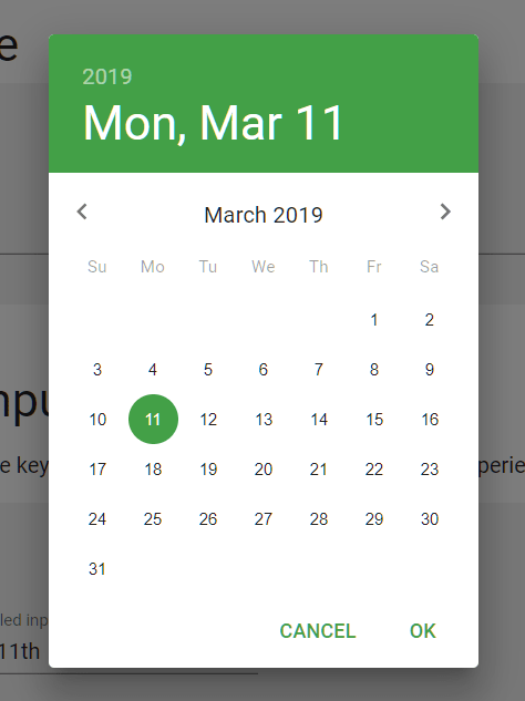 React Material-UI Date & Time Pickers | Reactscript