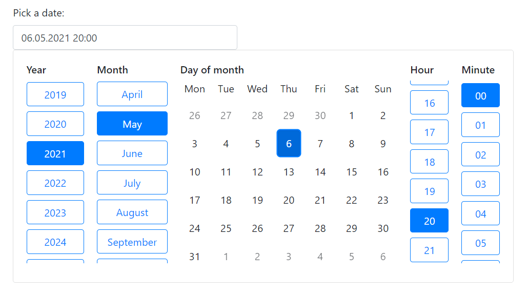 Bootstrap Date Picker For React